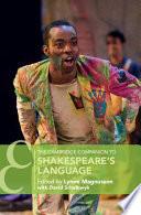 The Cambridge Companion to Shakespeare s Language