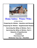 Home Safety Winter Wiles