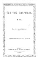The Two Surplices  A Tale     Reprinted from    The Churchman s Companion