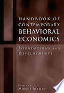 Handbook of Contemporary Behavioral Economics Book