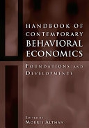 Pdf Handbook of Contemporary Behavioral Economics Telecharger