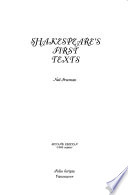 Shakespeare's First Texts