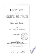 Lectures on the beautiful and sublime in nature and in morals Book