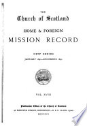 The Church of Scotland Home and Foreign Mission Record Book