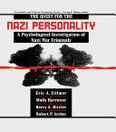 The Quest for the Nazi Personality