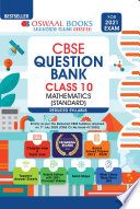 Oswaal CBSE Question Bank, Mathematics (Standard), Class 10, Reduced Syllabus (For 2021 Exam)