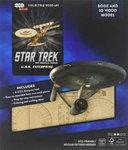 IncrediBuilds  Star Trek  U S S  Enterprise Book and 3D Wood Model