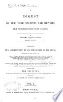 A Digest Of New York Statutes And Reports Book PDF