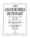 The Anchor Bible Dictionary: Si-Z