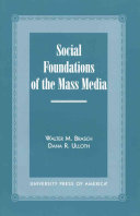 Social Foundations Of The Mass Media Book PDF