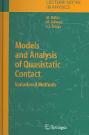 Models and Analysis of Quasistatic Contact