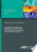 Proceedings of the 2020 Joint Workshop of Fraunhofer IOSB and Institute for Anthropomatics  Vision and Fusion Laboratory Book