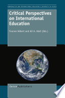 Critical Perspectives On International Education Book PDF