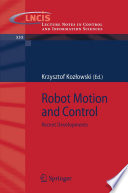 Robot Motion and Control Book