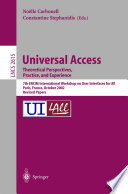 Universal Access Theoretical Perspectives Practice And Experience