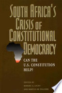South Africa S Crisis Of Constitutional Democracy