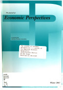 The Journal of Economic Perspectives Book