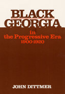 Black Georgia in the Progressive Era, 1900-1920