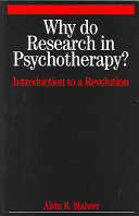 Why Do Research in Psychotherapy