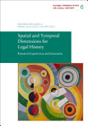 Spatial and Temporal Dimensions for Legal History Pdf/ePub eBook