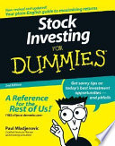 List of Dummies Stock Investing E-book
