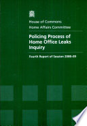 Policing Process of Home Office Leaks Inquiry