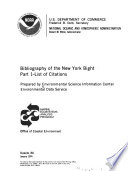 Bibliography of the New York Bight