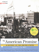 Loose-leaf Version for The American Promise, Volume 1