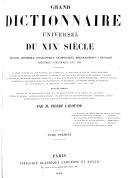 Grand Dictionnaire Universel [du XIXe Siecle] Francais: A-Z 1805-76