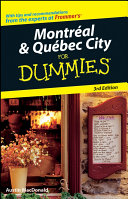 Montral   Qubec City For Dummies