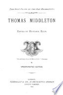 Thomas Middleton Book PDF