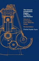 The Internal combustion Engine in Theory and Practice  Combustion  fuels  materials  design