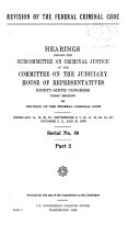 Revision of the Federal Criminal Code