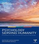 Psychology Serving Humanity: Proceedings of the 30th International Congress of Psychology Pdf/ePub eBook