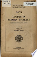 Notes on Liaison in Modern Warfare
