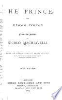 The Prince  and Other Pieces from the Italian