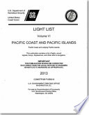 Light List 2012 V 6 Pacific Coast And Outlying Pacific Islands