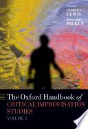 The Oxford Handbook of Critical Improvisation Studies