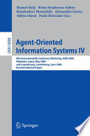 Agent-Oriented Information Systems IV