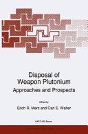 Disposal of Weapon Plutonium