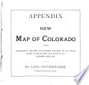 Appendix to New Map of Colorado