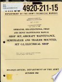 Operator, Organizational, Field and Depot Maintenance Manual