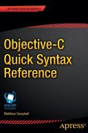 Objective C Quick Syntax Reference