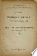 Report of the Dominion Entomologist