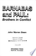 Barnabas and Paul: Brothers in Conflict