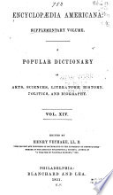 Encyclopædia Americana  : A popular dictionary ... A new edition; including ... American biography; on the basis of the seventh edition of the German Conversations-lexicon , Volume 14
