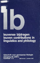 Leuven Contributions In Linguistics And Philology
