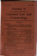 Journal of Criminal Law, Criminology & Police Science