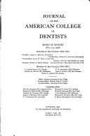 The Journal of the American College of Dentists Book