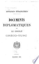 Documents diplomatiques sur le conflit Gréco-Turc Décembre 1868